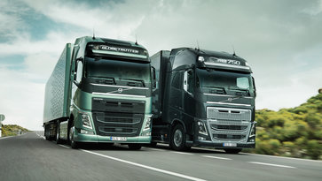 Volvo FH and Volvo FH16 on the road