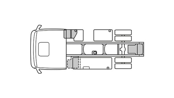 The layout of the Volvo FMX tractor chassis