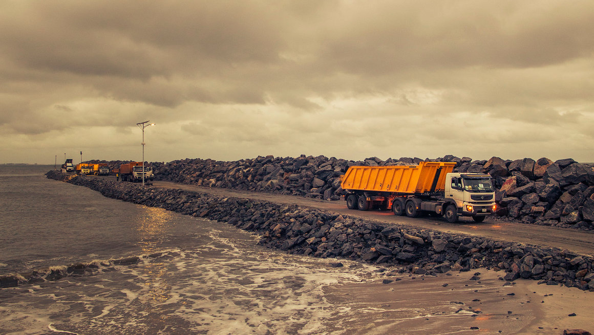 Volvo FMX at Eko Atlantic.