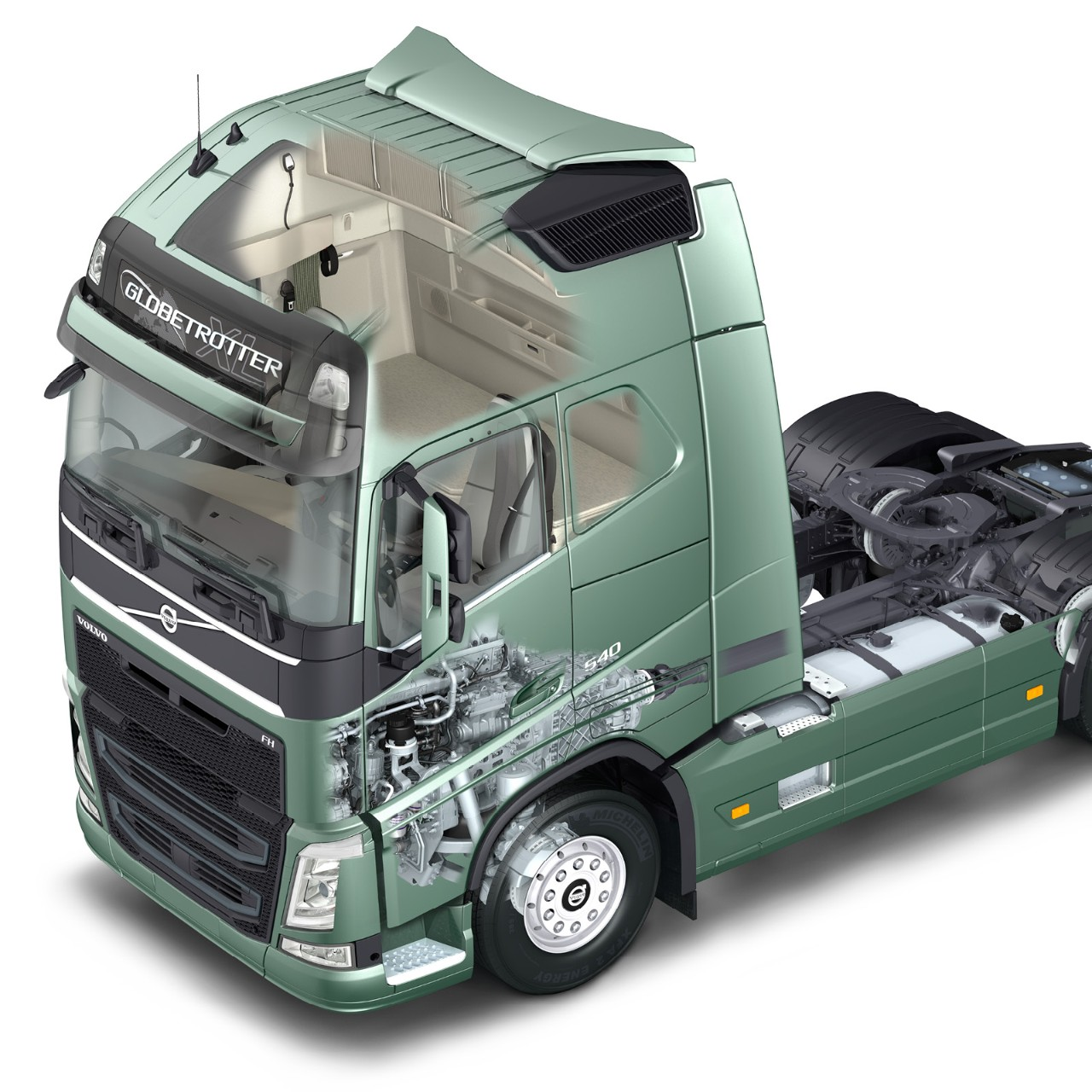 Volvo Trucks energy absorbing cab