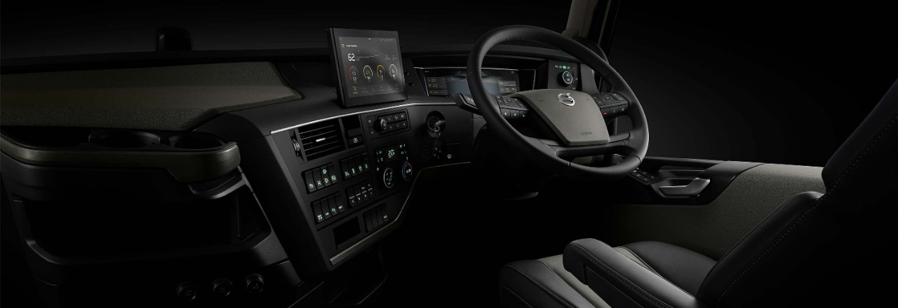 Take a closer look at the Volvo FH cab interior.