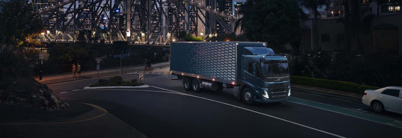 The Volvo FM offers a new, modern profile.