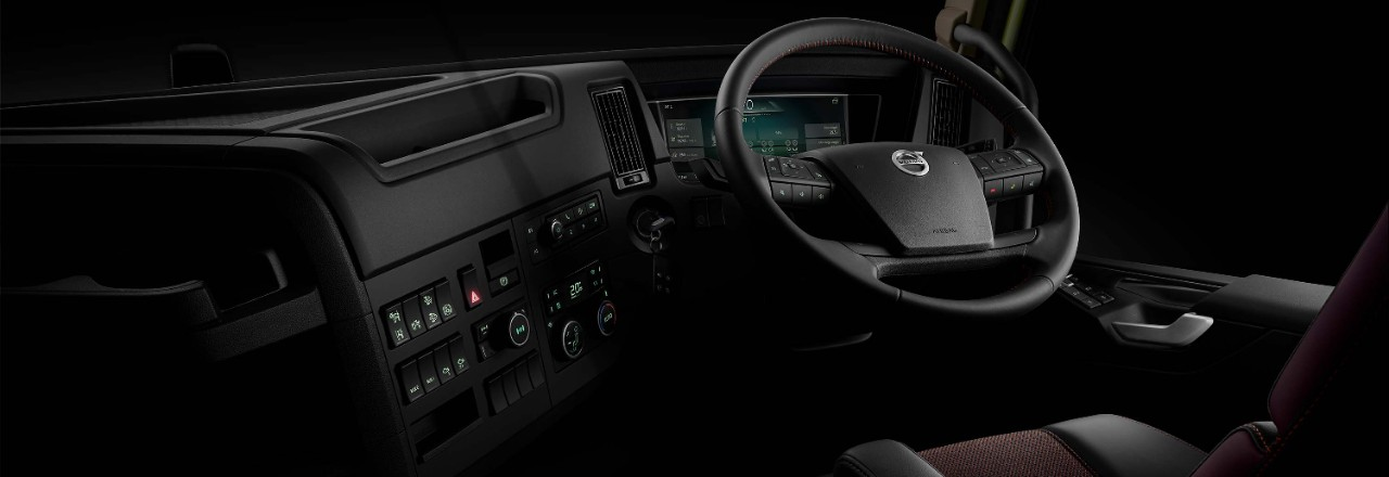 Behind the wheel of the Volvo FMX, you're in charge.